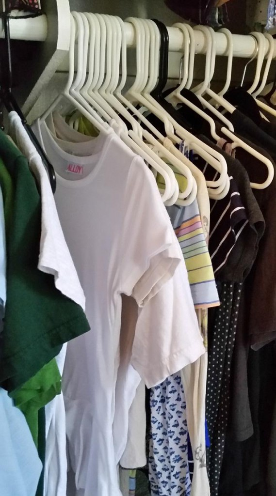 Organizing everyday items saves loads of time when getting dressed.