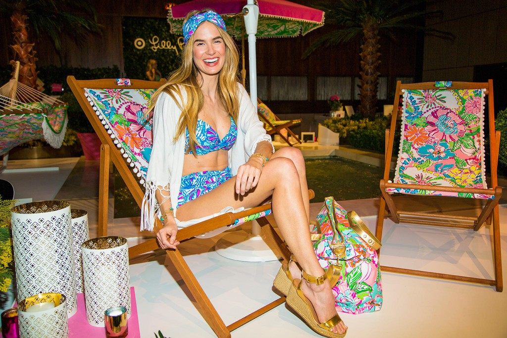 Model dressed in Lilly Pulitzer x Target at the collection launch party in NYC. Photo Courtesy of Target.