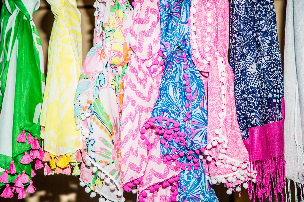 Scarves in some of Lilly's vintage revival prints. Photo Courtesy of Target.com