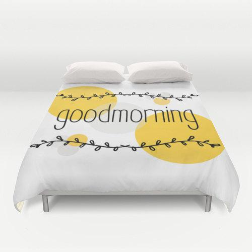 Good Morning Duvet Cover by Monochrome Studio on Etsy