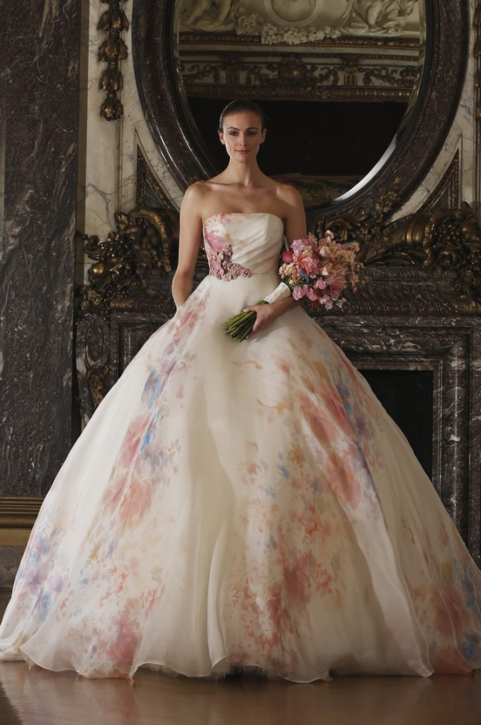Romona Keveza Floral Gown