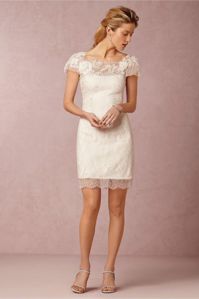 BHLDN Little white wedding dress