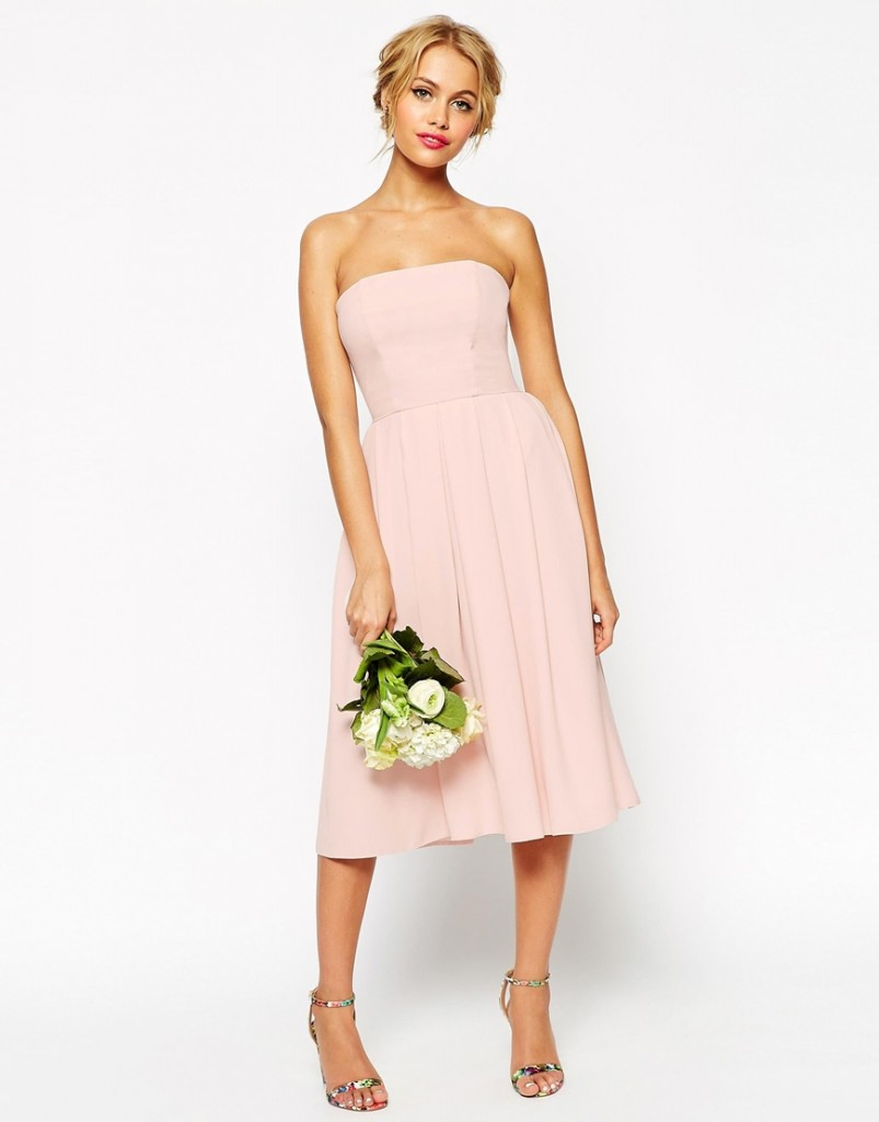 Asos short bridesmaid dress