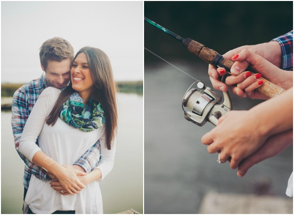 Fishing Engagement Shoot at the Pier