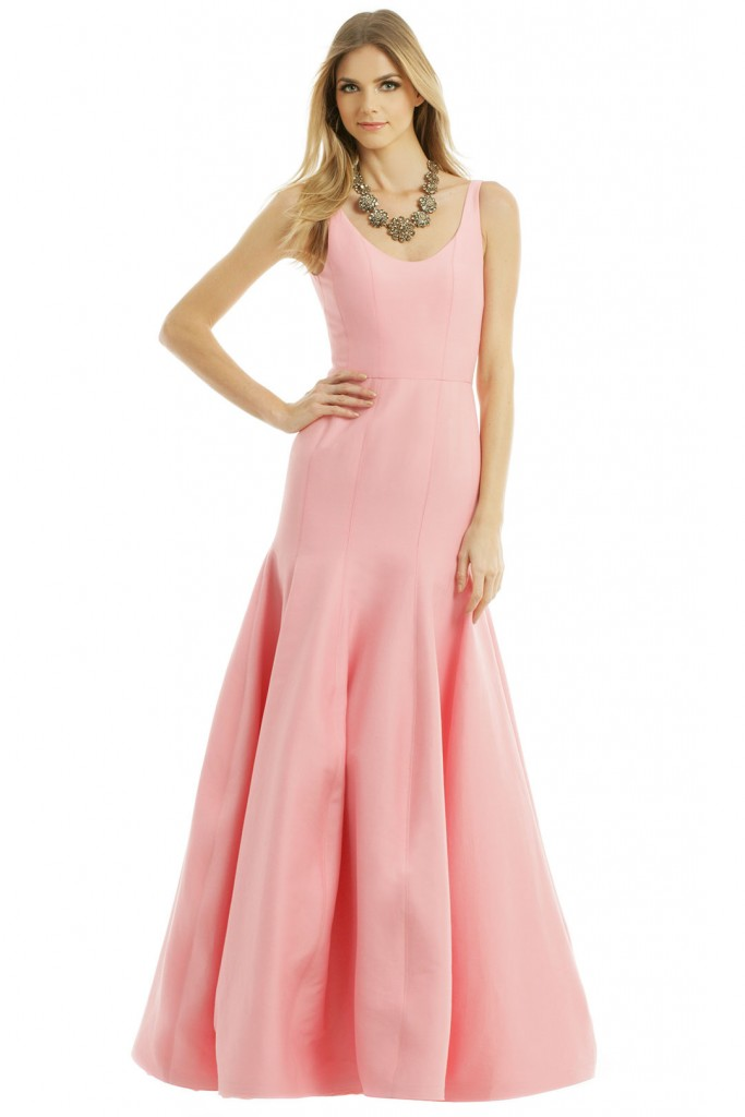 Halston Pink Bridesmaids Dress