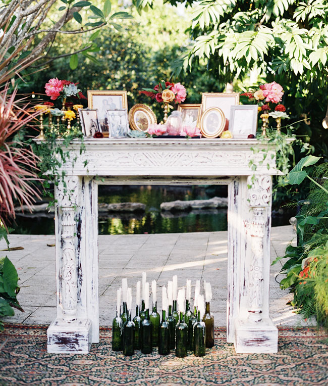 Memory Table for Loved Ones at a Wedding