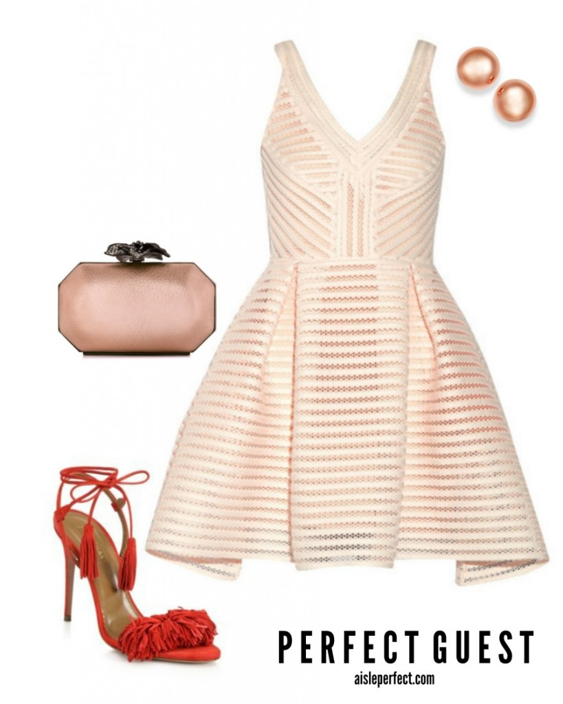 Nude Wedding Guest Outfit