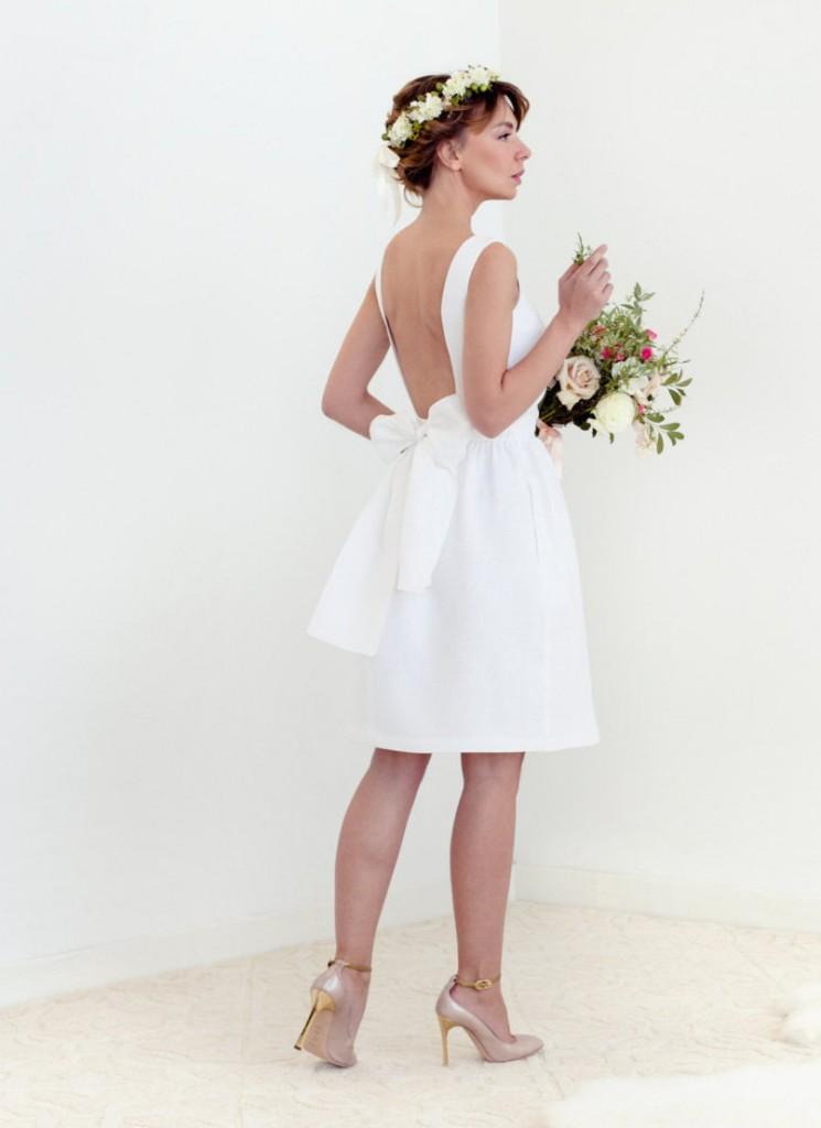 Open Back Little white dress