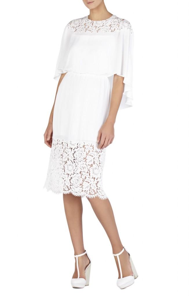 Cape Little White Wedding Dress
