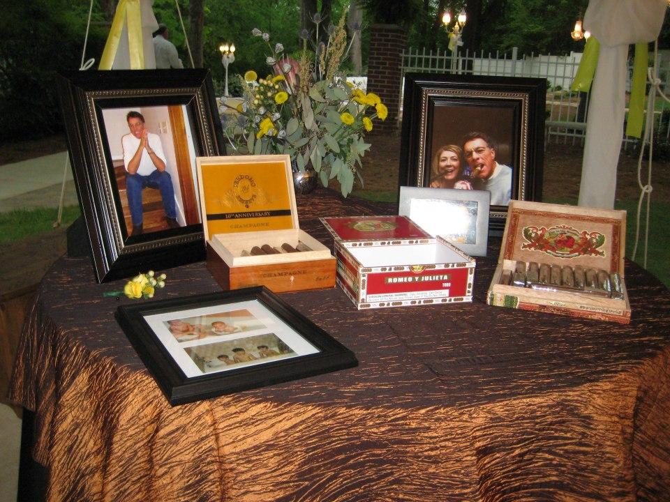 Wedding Memory Favor- Cigar bar