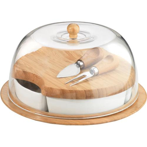 10 Piece Bamboo, Glass and Ceramic Serving Set, $23.95 by Anchor Hocking