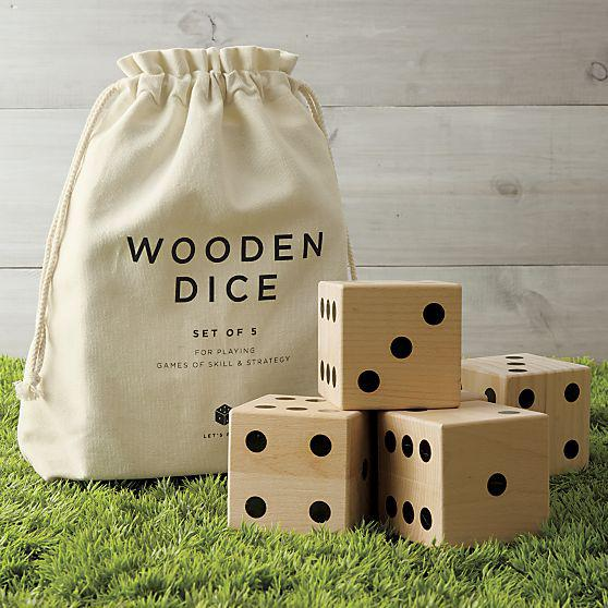Wooden Yard Dice Game, $59.95 at Crate and Barrel