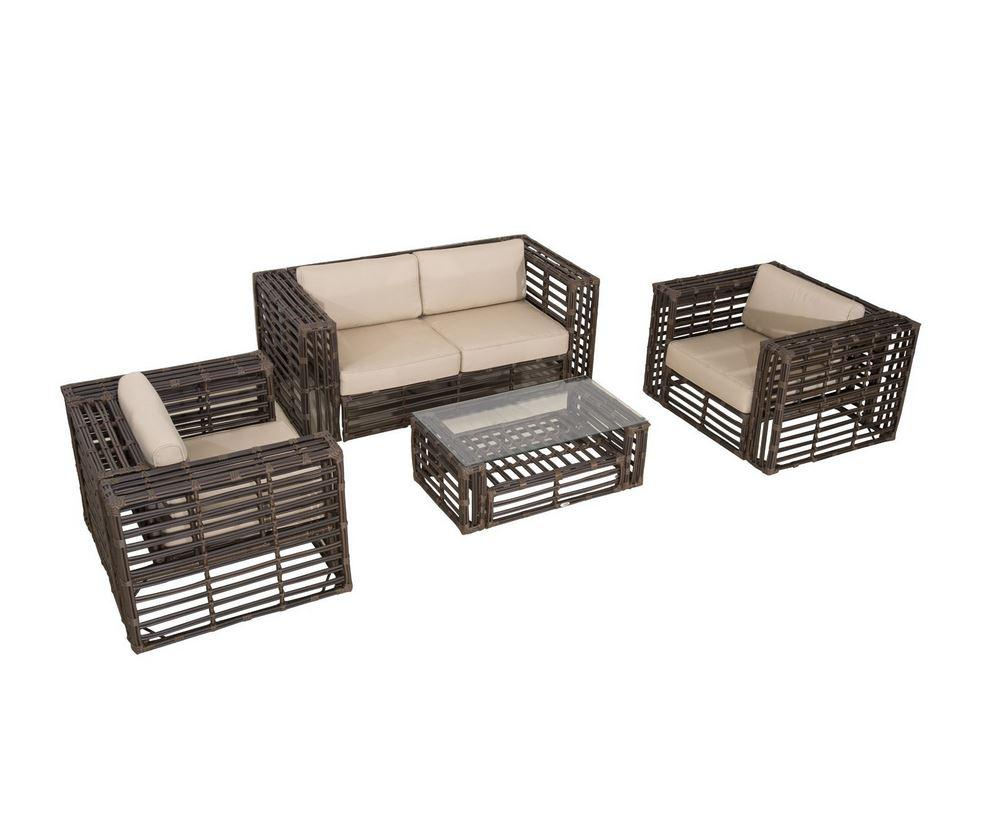 Outsunny 4 Piece Deluxe Outdoor Rattan Wicker Patio Set, $899.50 at Amazon