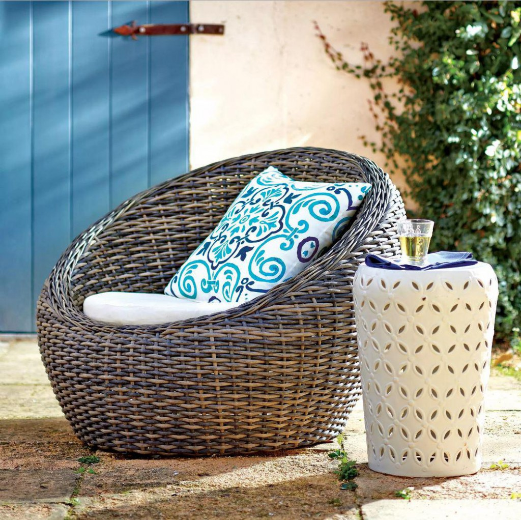 All-Weather Wicker Formentera Egg Outdoor Chair, $279.99 at World Market