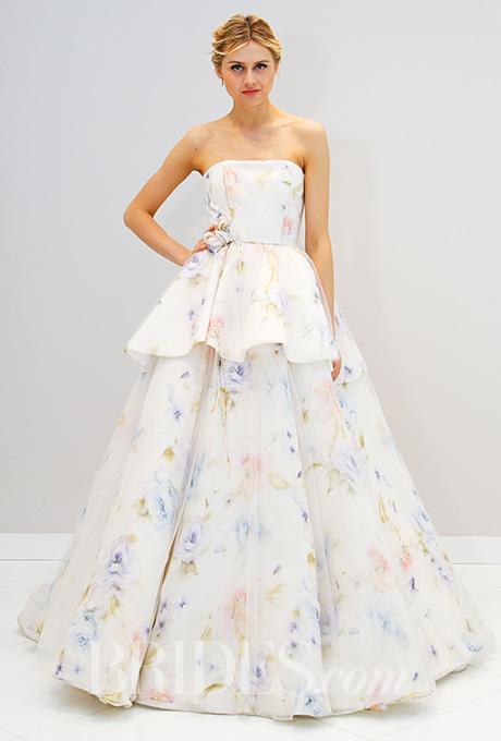 Randi Rahm Floral Wedding Dress