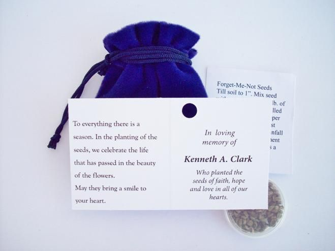 wedding favors in memory of a loved one