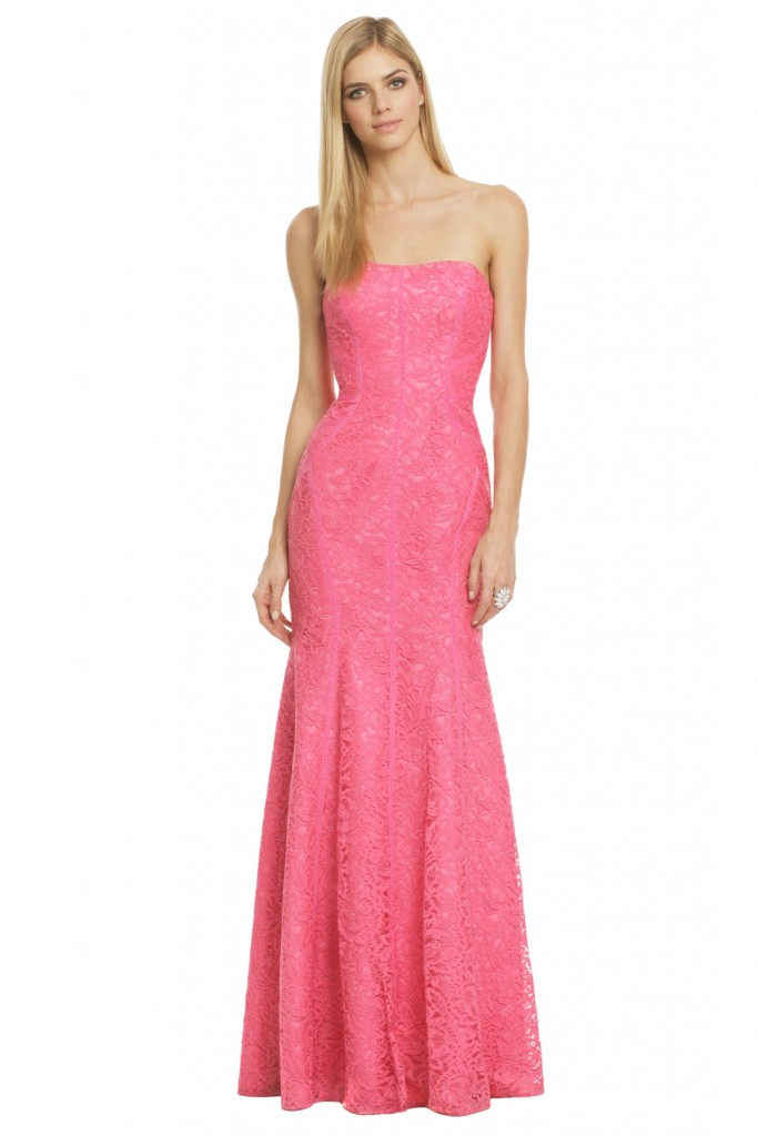 Monique Lhuillier Pink Dress