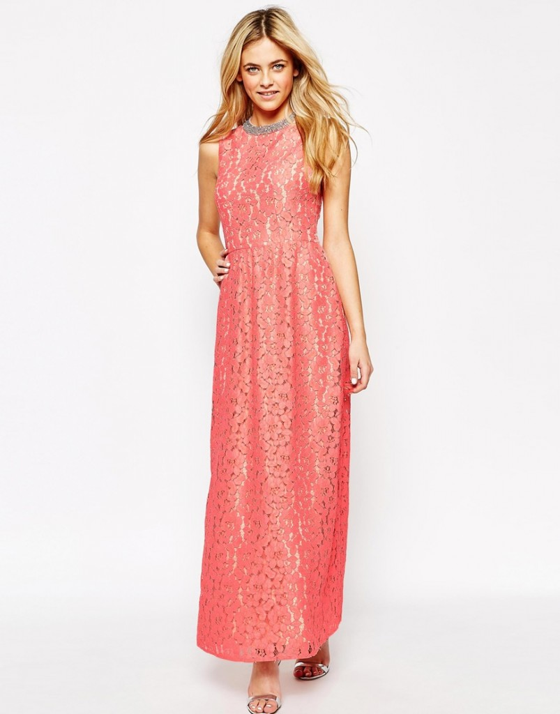OASIS lace maxi dress