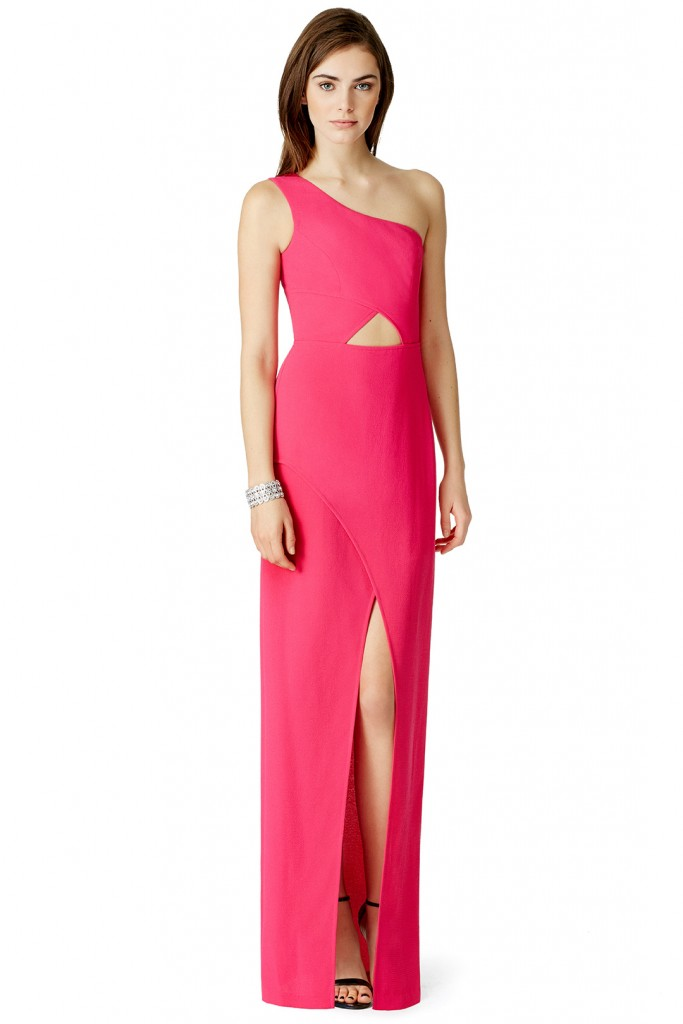 One shoulder cutout bridesmaid dress