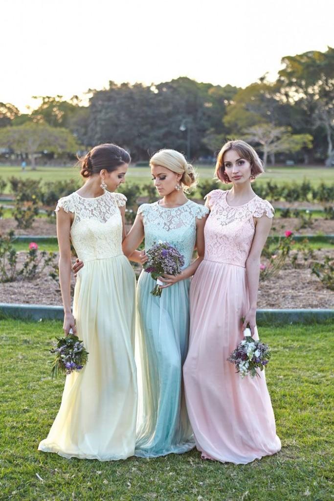 Pastel Bridesmaids in Tania Olsen