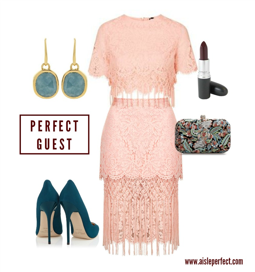 Perfect Guest in Lace Crop Set