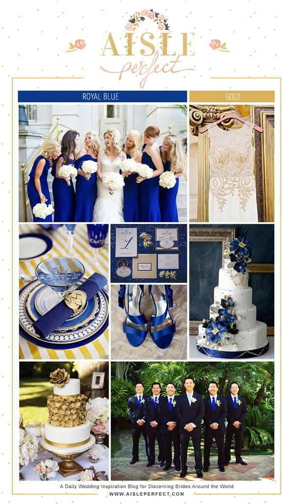 Royal Blue And Gold Wedding Inspiration Board Perfete