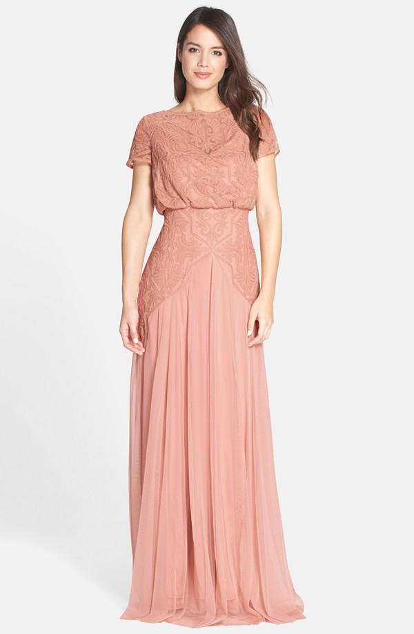 Tadashi Shoji Pink Bridesmaids Dress