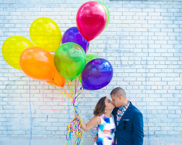 creative Up inspired engagement shoot