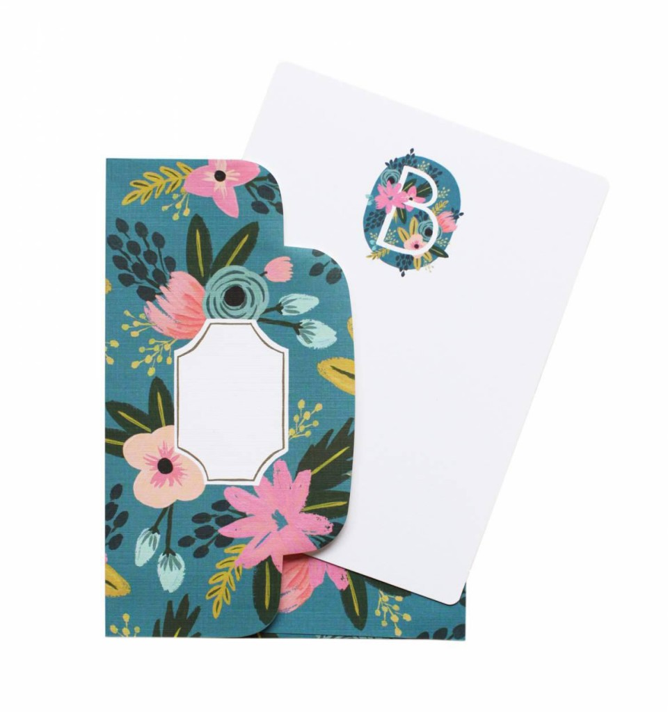 Monogrammed Stationary Flat Notes and Cards Set, $16 from Rifle Paper Co.