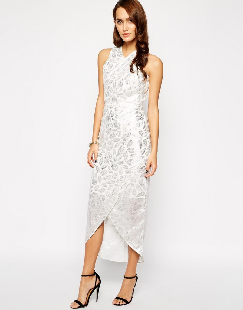 white and silver dressy bridal shower outfit- vlabel london