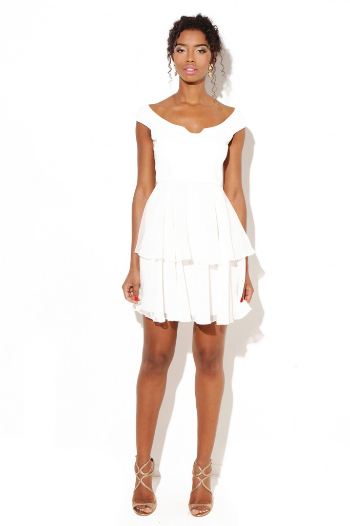 white bridal shower outfit aisle perfect for summer