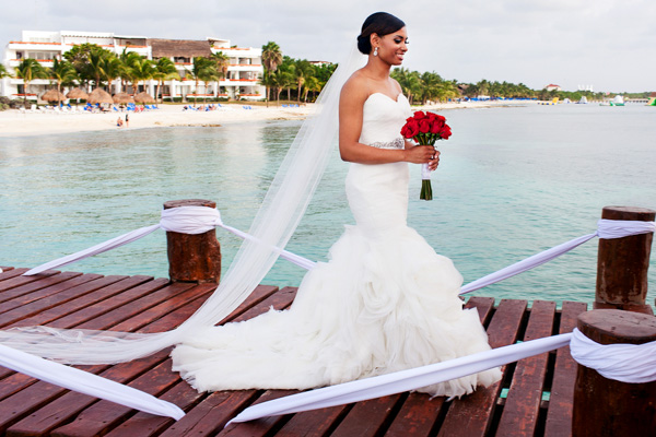 Nicole + Der'rell Wedding and Trash the Dress, Cozumel, Riviera Maya, Mexico.