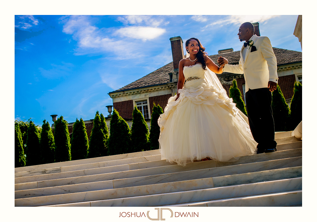 Nadine & Kindrick's Wedding at NYIT de Seversky Mansion in Old Westbury, NY