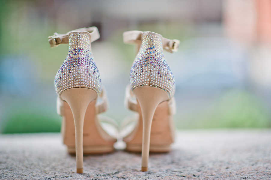 Sparkly wedding shoes Robyn Blasi Photography