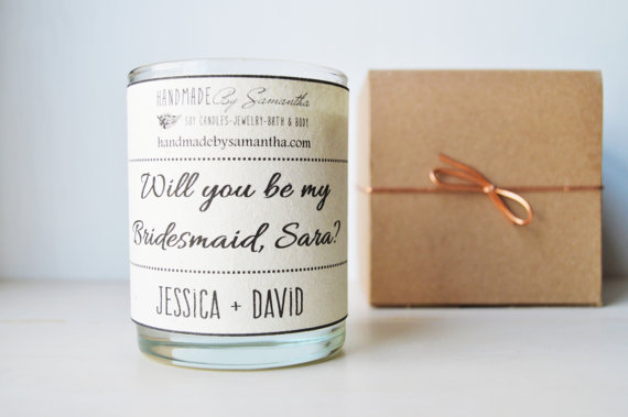 Will you be my bridesmaid Soy Candle - HBS Designs