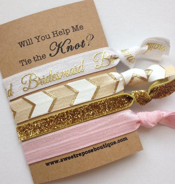 Will you be my Bridesmaid Hair Ties - Sweet Repose