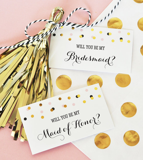 Will You Be My Bridesmaid Gift Tags - Mod Party