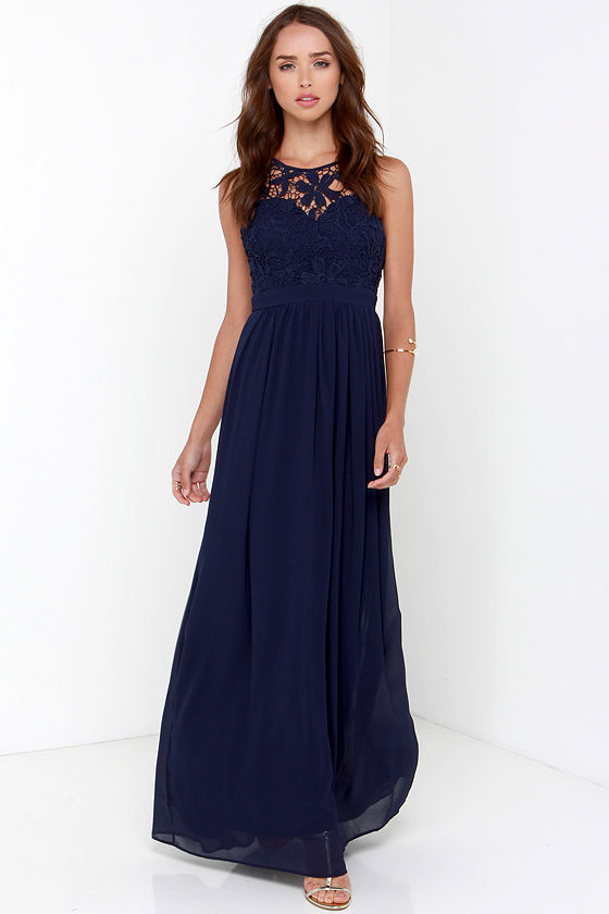 18 bridesmaid dresses under 100 by lulu s aisle perfect for Navy blue maxi dress for wedding