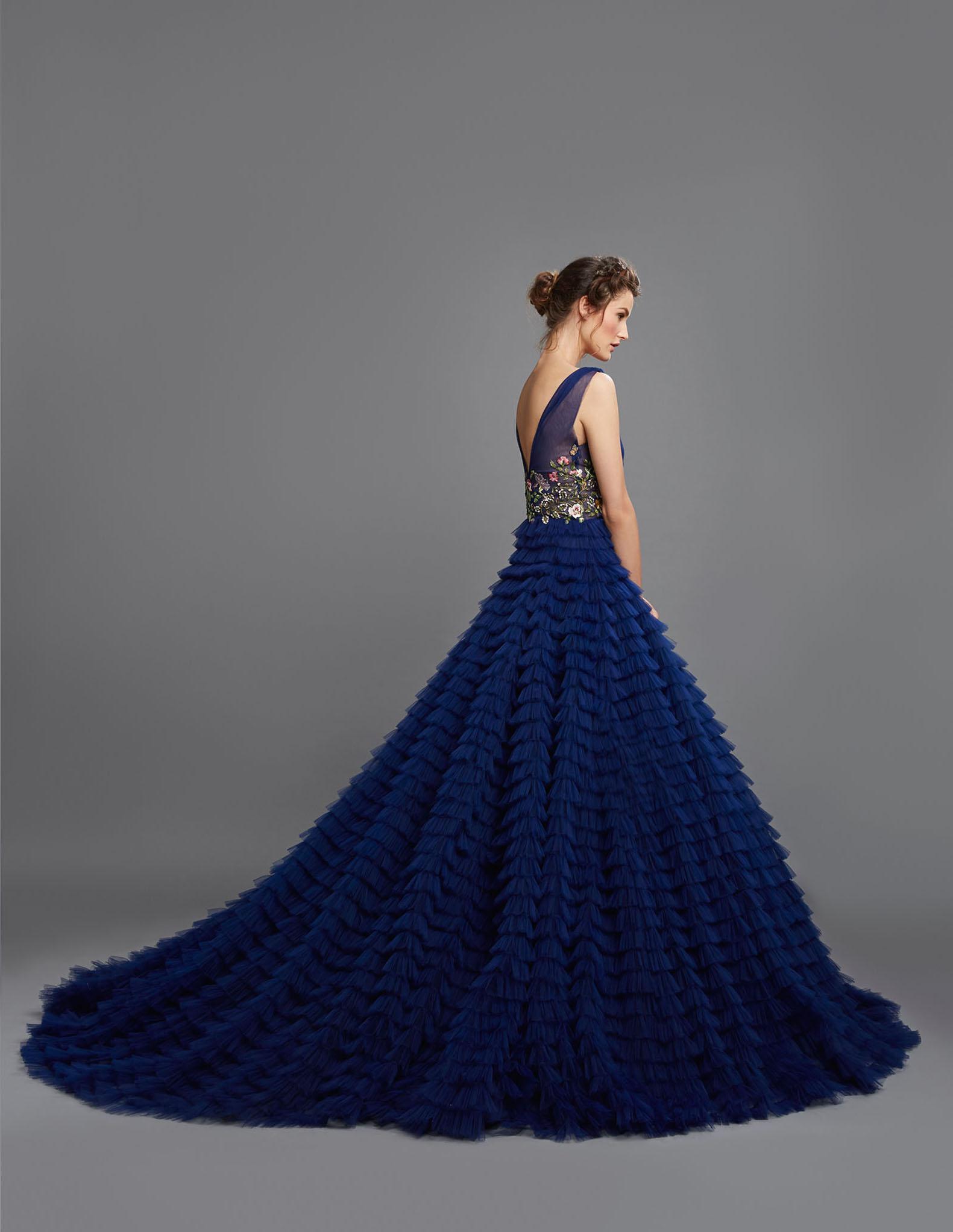 Blue wedding dress Hamda al fahim