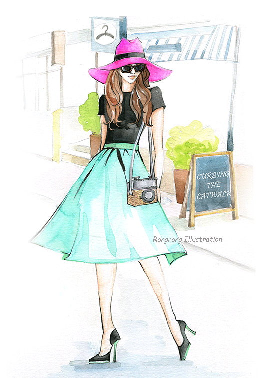 Custom illustration _ maid of honor gift