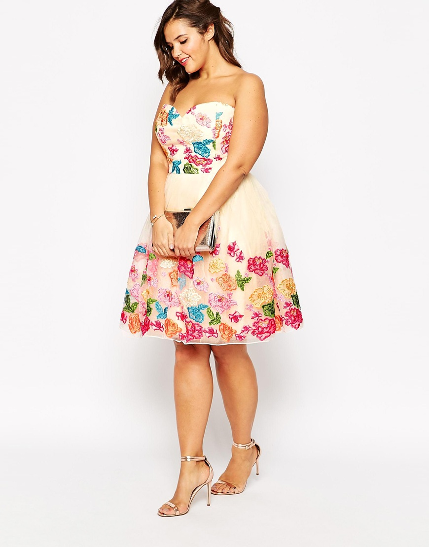 43cc9e442ad Floral strapless dress Chi Chi London via ASOS · bandeau chi chi london  wedding guest outfit