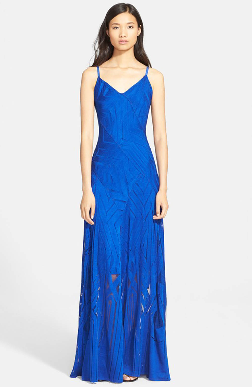 Blue bridesmaid dress _ Tracy reese