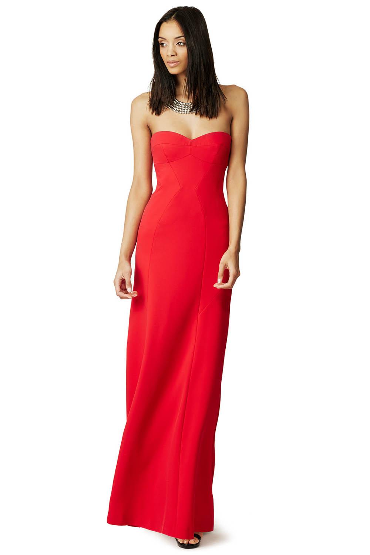red bridesmaid dress BCBGMAXAZRIA