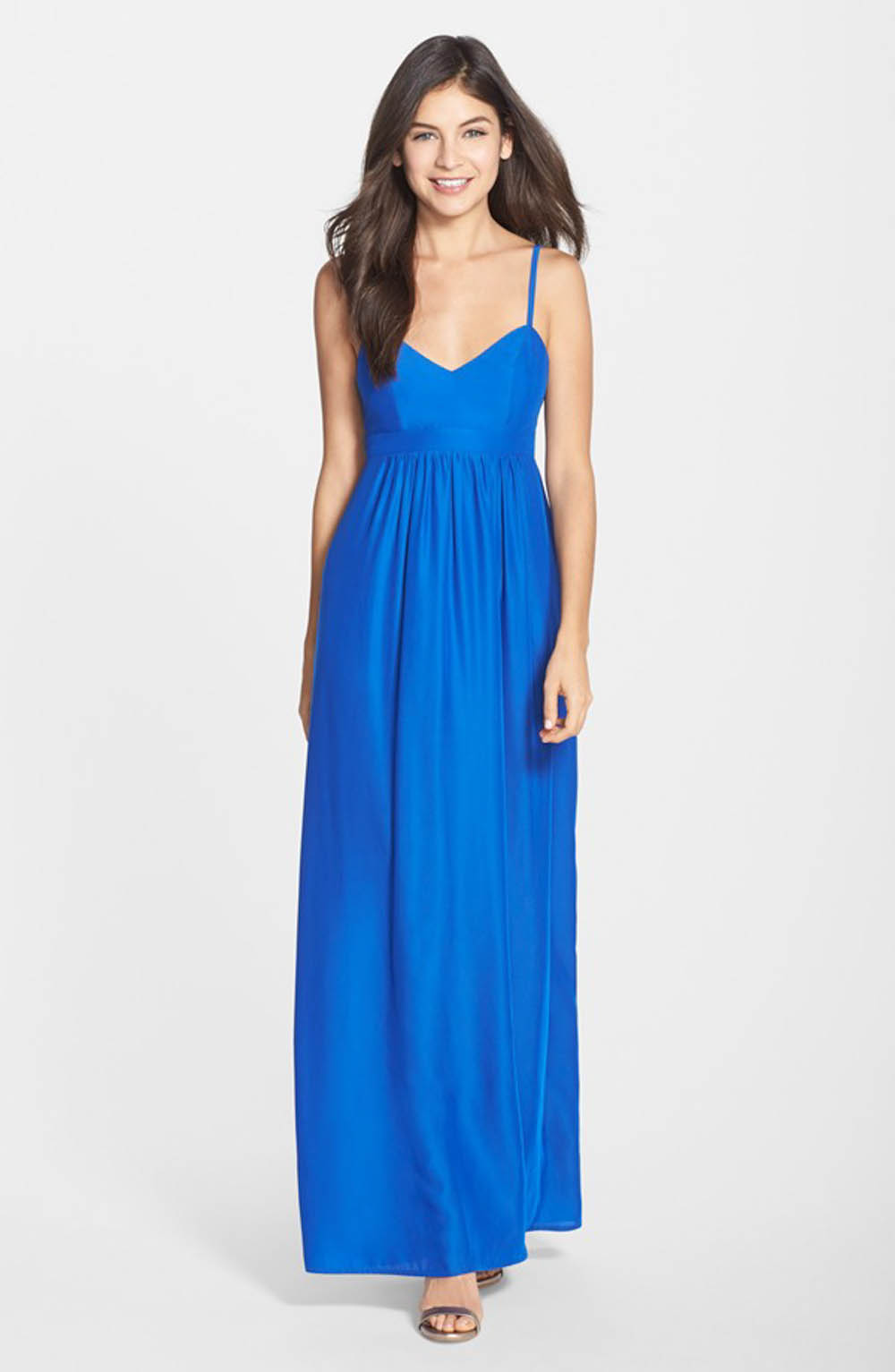 Blue bridesmaid dress by felicity and coco
