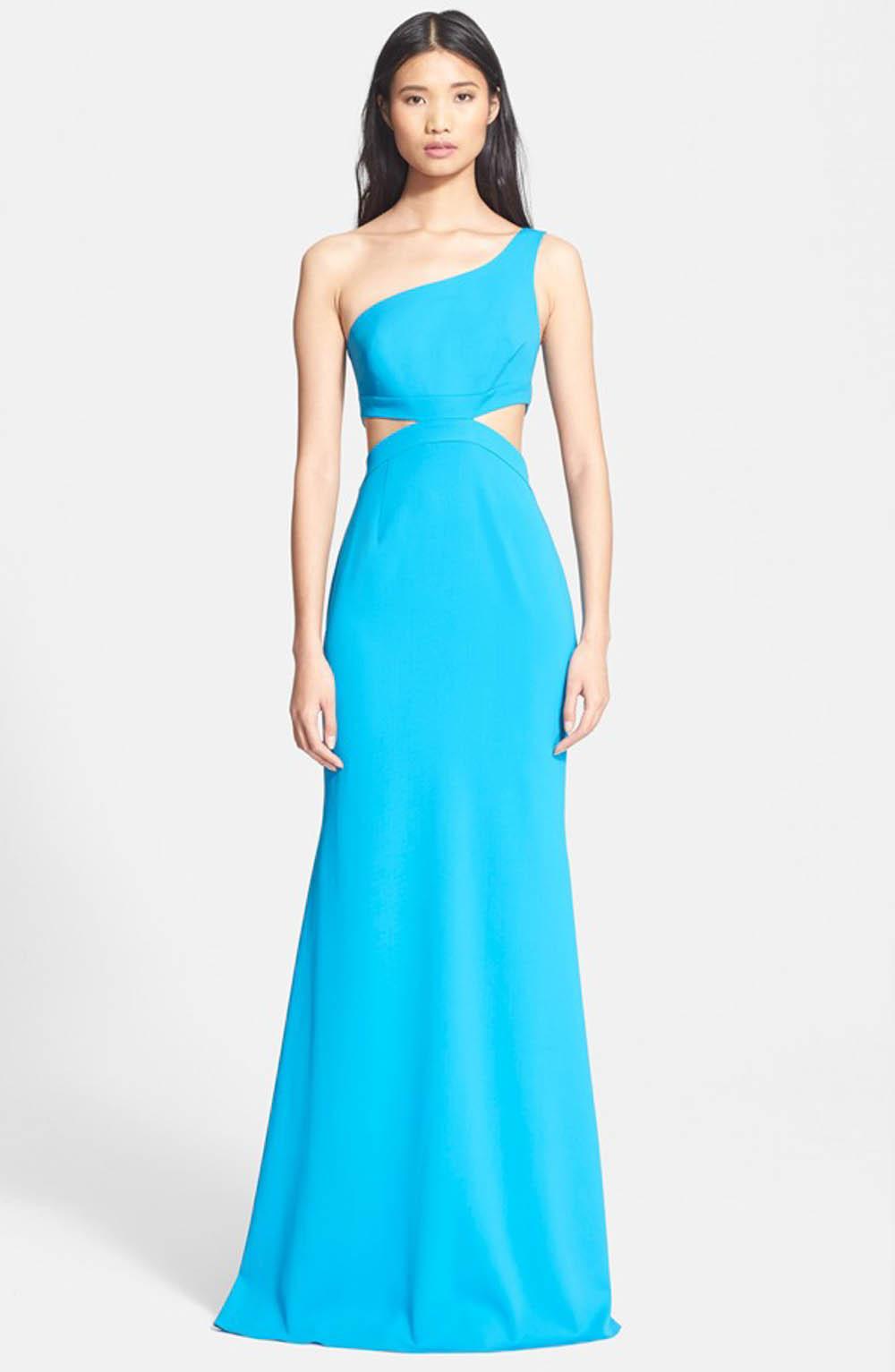 one shoulder aisle perfect bridesmaid dress