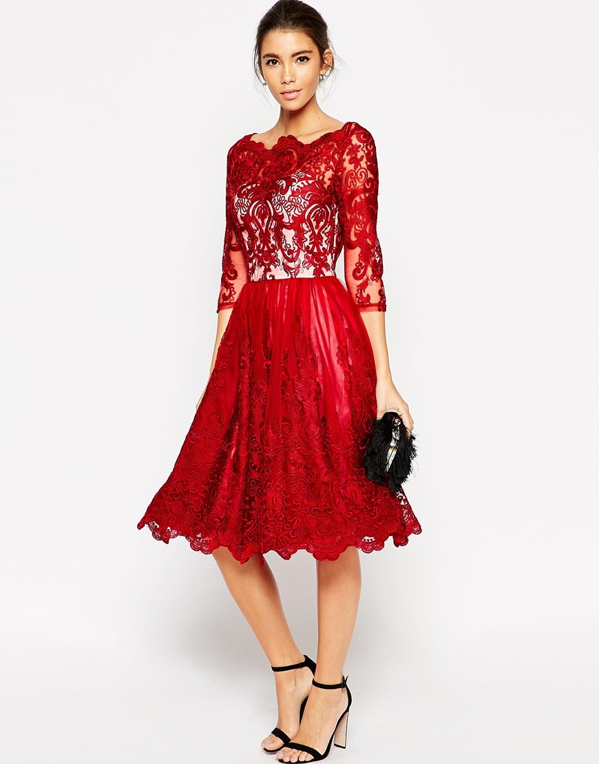 c5b3b5eb119 source · Red wedding guest outfit   chi chi london  perfect guest aisle  perfect