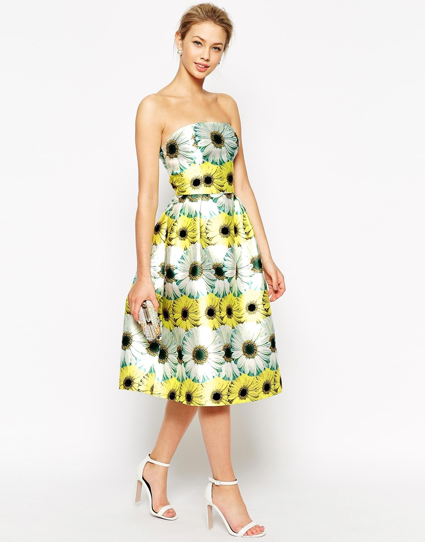 Yellow floral dress _ ASOS