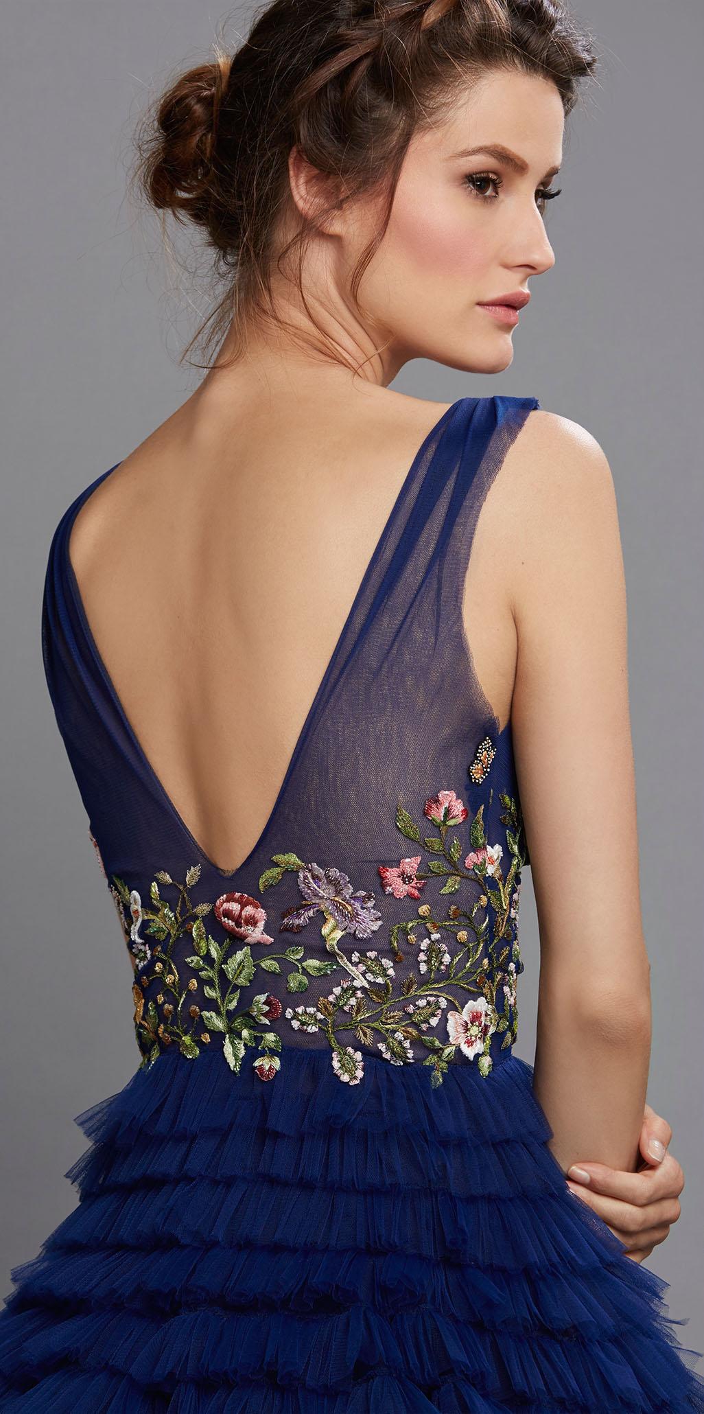 hamda al fahim blue dress