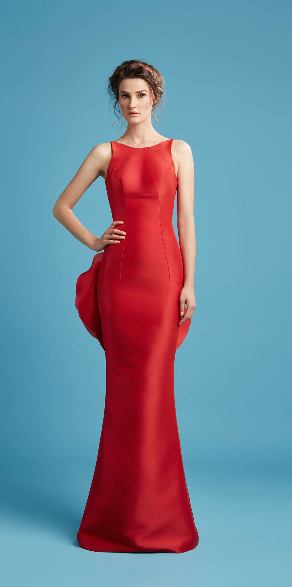 red bridesmaid dress hamda al fahim