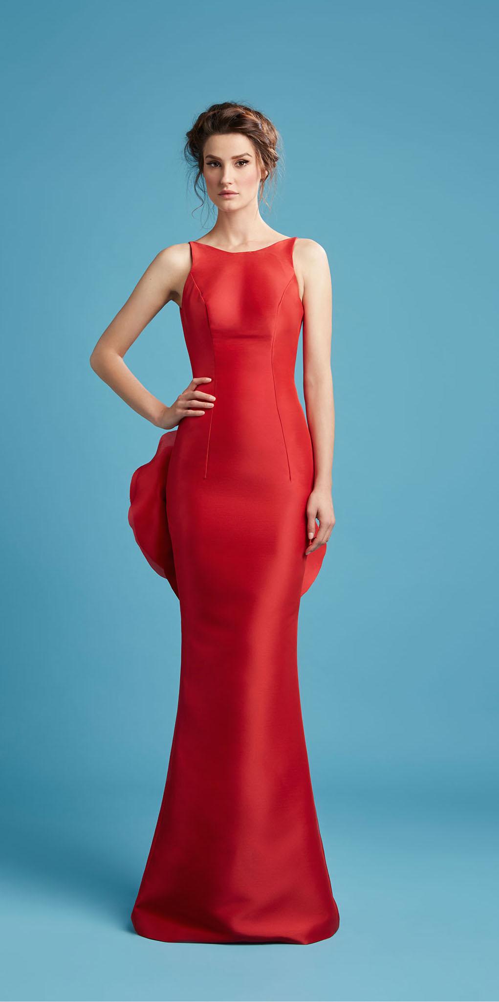 red bridesmaid dress hamda al fahim